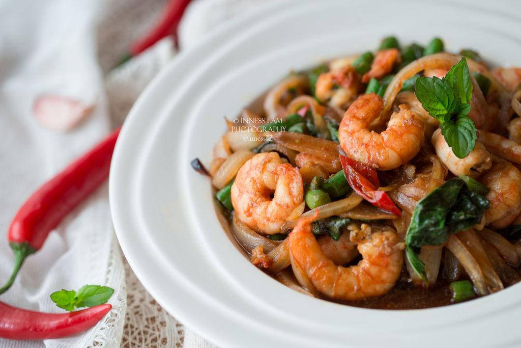 【泰式九层塔炒虾】 去泰国必吃的低卡美味的做法