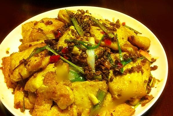 香煎鸡蛋豆腐的做法_【图解】香煎鸡蛋豆腐怎么做如何