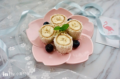 快手早餐 | 椰蓉香蕉吐司卷