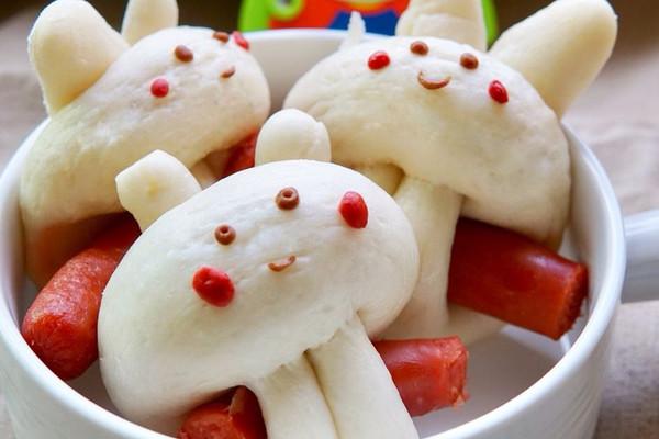 兔子馒头_香肠兔子馒头