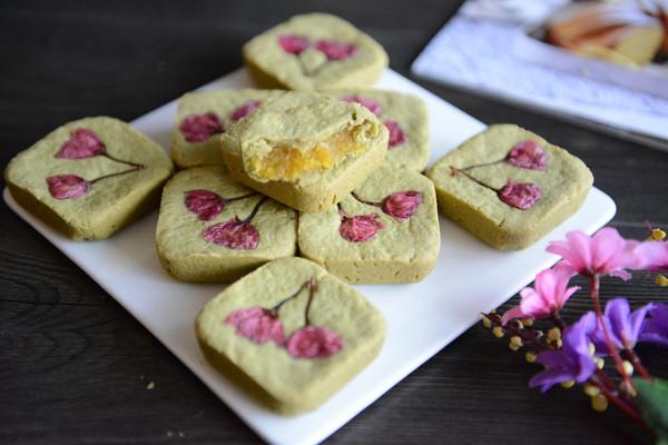 樱花抹茶凤梨酥的做法