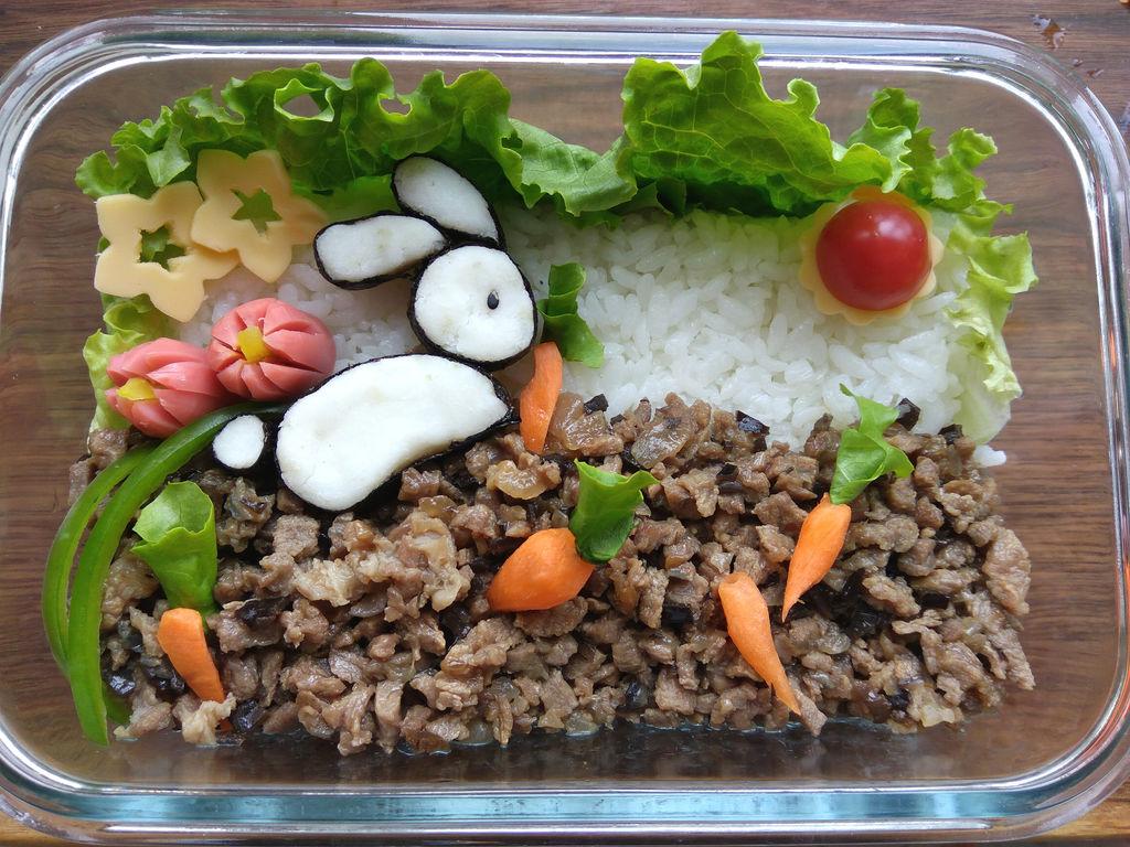 小兔子拔萝卜营养便当#最萌缤纷儿童节#的做法图解14