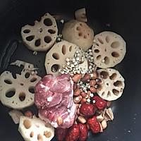 花生薏米红枣骨藕汤#花家味道#的做法图解2