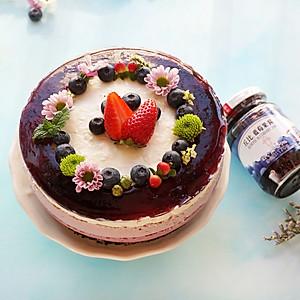蓝莓冻芝士蛋糕-丘比果酱