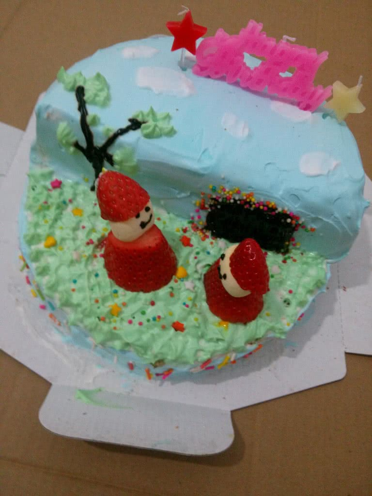 生日场景蛋糕的做法步骤