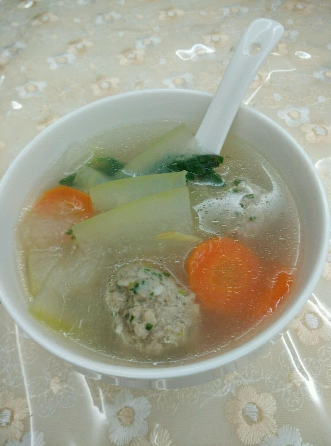 冬瓜肉丸汤的做法图解1