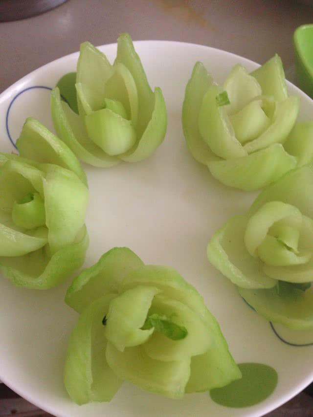 花式油菜的做法图解4
