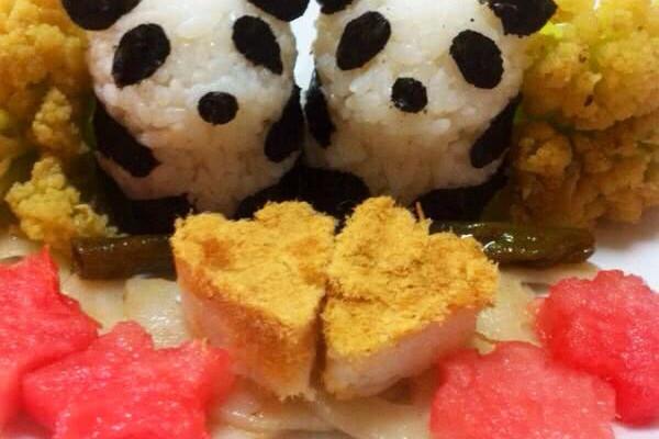 熊猫饭团的做法_【图解】熊猫饭团怎么做好吃