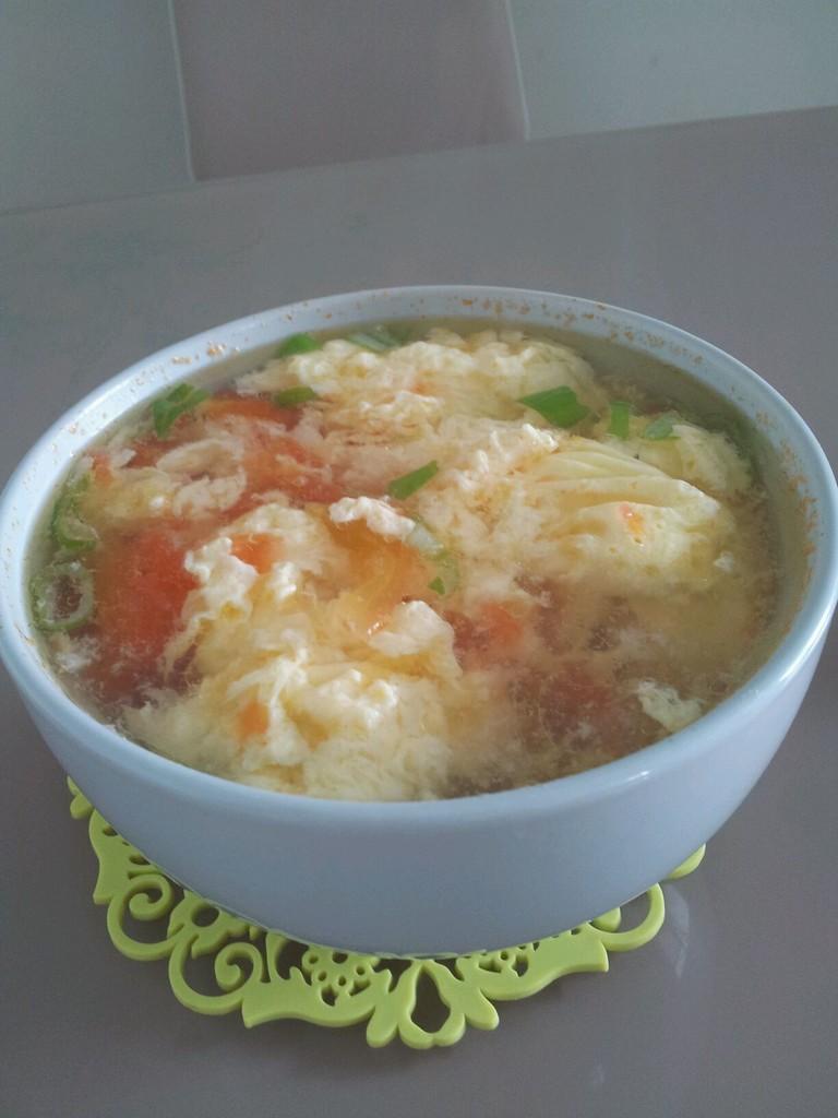 番茄蛋汤食谱手绘