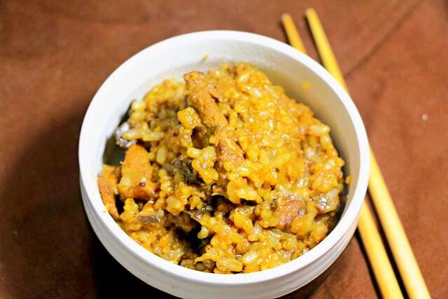 茄子饭 宝宝营养辅食,大米 糙米 小米 猪肉