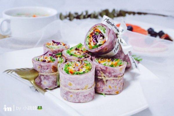 紫薯卷饼的做法