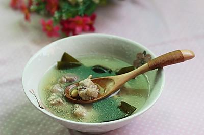海带黄豆排骨汤——利仁电火锅试用菜谱(一)