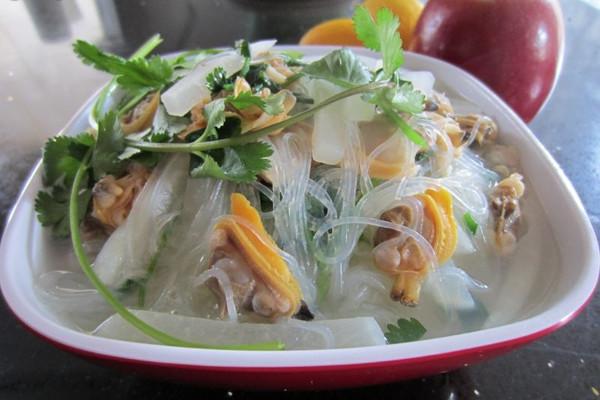 萝卜粉丝蛤蜊汤的做法