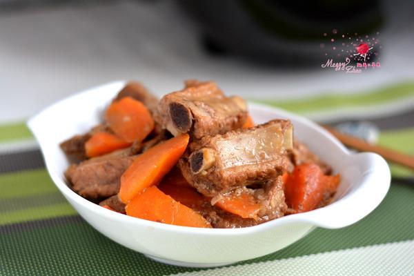 红烧排骨胡萝卜#我要上首页清爽家常菜#的做法