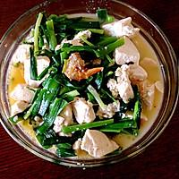 汤菜:韭菜海米咕嘟豆腐