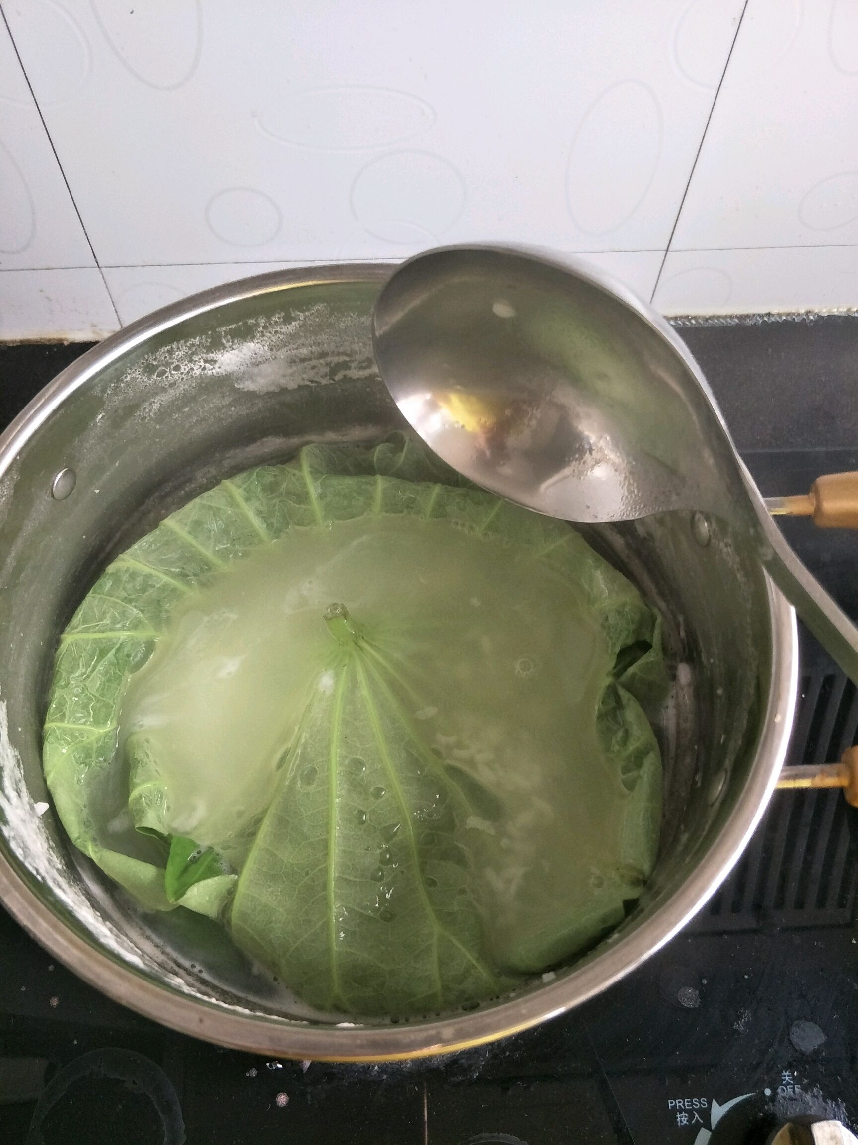 冰糖荷叶粥的做法步骤
