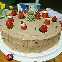 圣诞树桩蛋糕#安佳烘焙学院#
