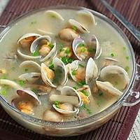 蛤蜊茵菇汤