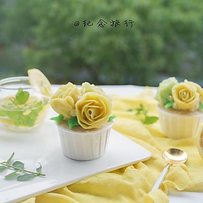 韩式裱花蛋糕—柠檬海绵蛋糕#博世红钻家厨#