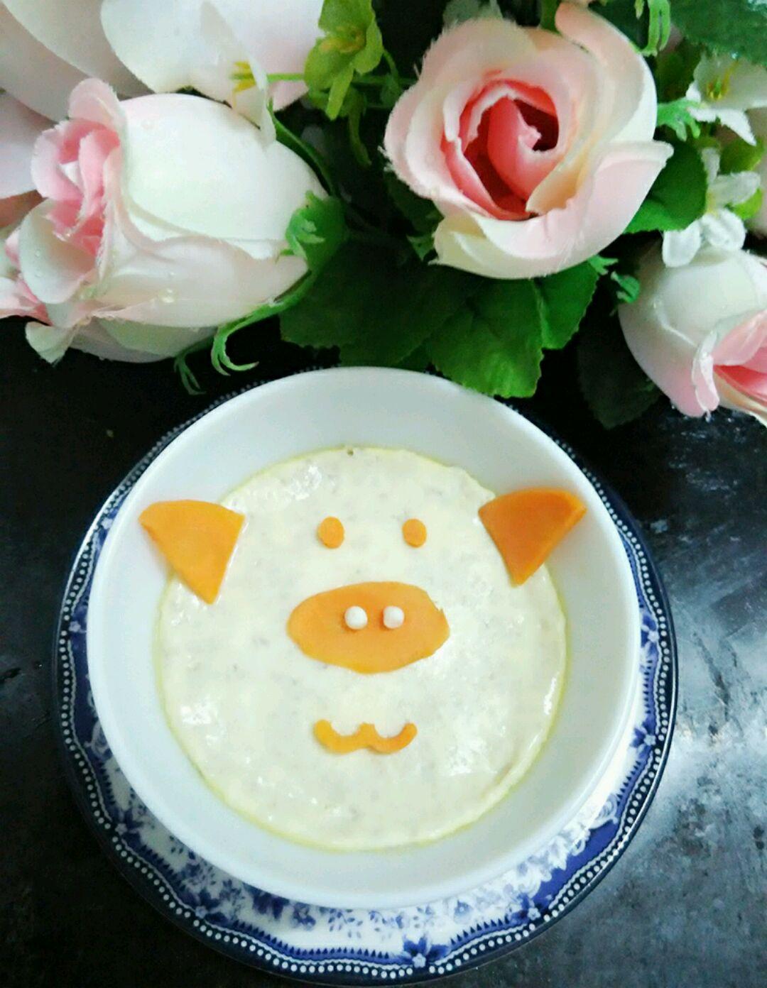 小猪造型鹌鹑蛋羹