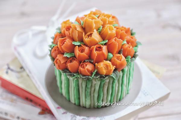 郁金香裱花蛋糕