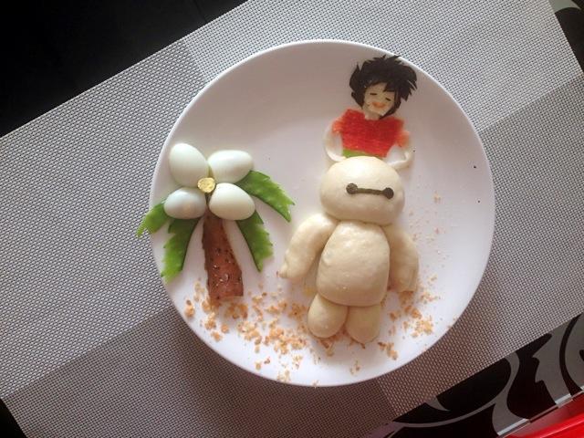 宝宝创意营养童趣早餐之大白