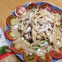 棒棒鸡#丘比沙拉汁#