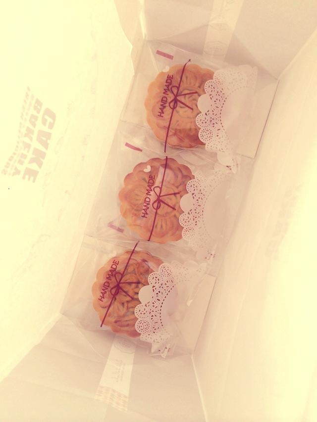 花纹清晰de广式五仁月饼&广式豆沙月饼