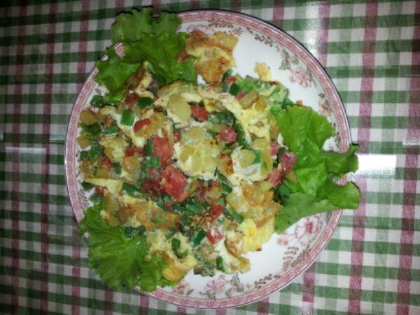 土豆烘蛋的做法_【圖解】土豆烘蛋怎麼做好吃_綠 ...