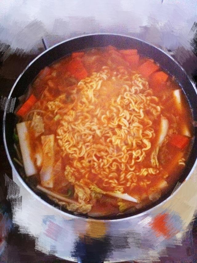 韩式年糕拉面的做法图解6