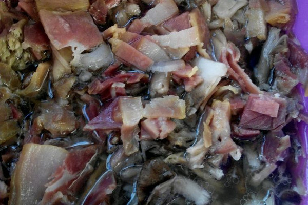 火腿蒸菌子的做法_【图解】火腿蒸菌子怎么做如何做