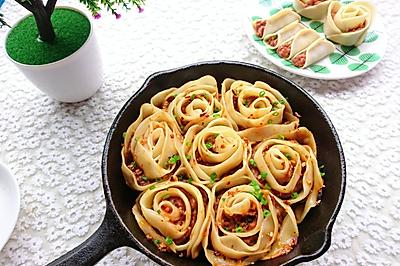 好看又好吃的《花式玫瑰煎饺》,据说这才是饺子的正确打开方式