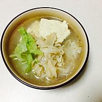 白菜豆腐荷仙菇汤