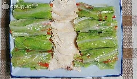 鸡肉镶菜卷的做法