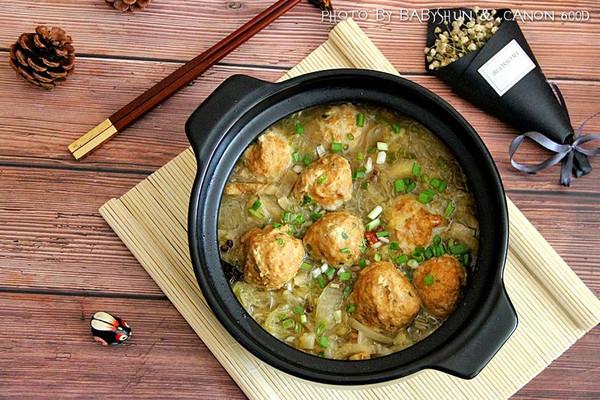 酸菜粉丝肉圆汤