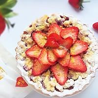 酒渍草莓开心果脆塔#香雪让年更有味#