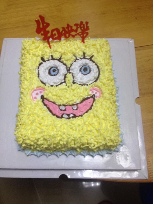 生日蛋糕海绵宝宝