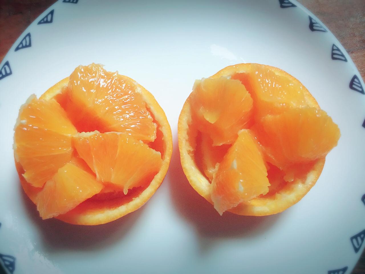 花式切橙(水果摆盘)的做法图解5