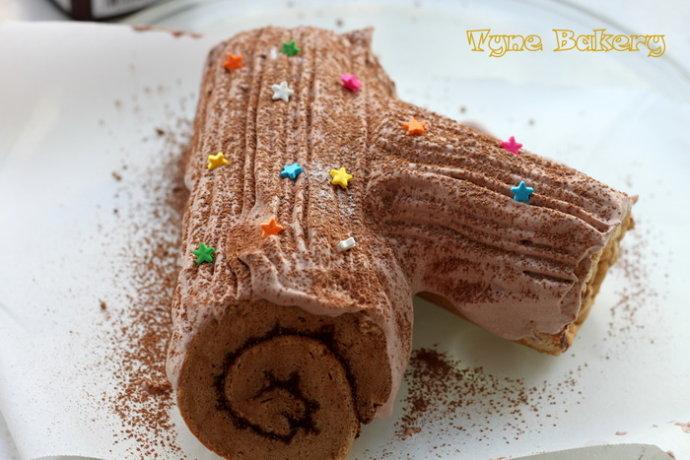小孩子的最爱--圣诞树根蛋糕