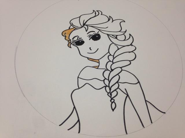 画简单的公主的步骤