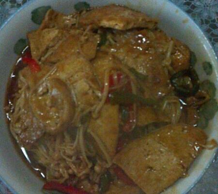 金针烩豆腐的做法