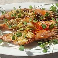 橄榄油焗烤对虾
