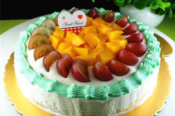 水果彩虹生日蛋糕的做法