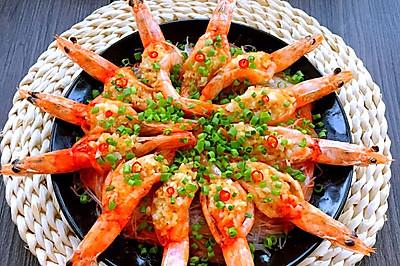 金银蒜粉丝蒸虾#寻找最聪明的蒸菜达人#