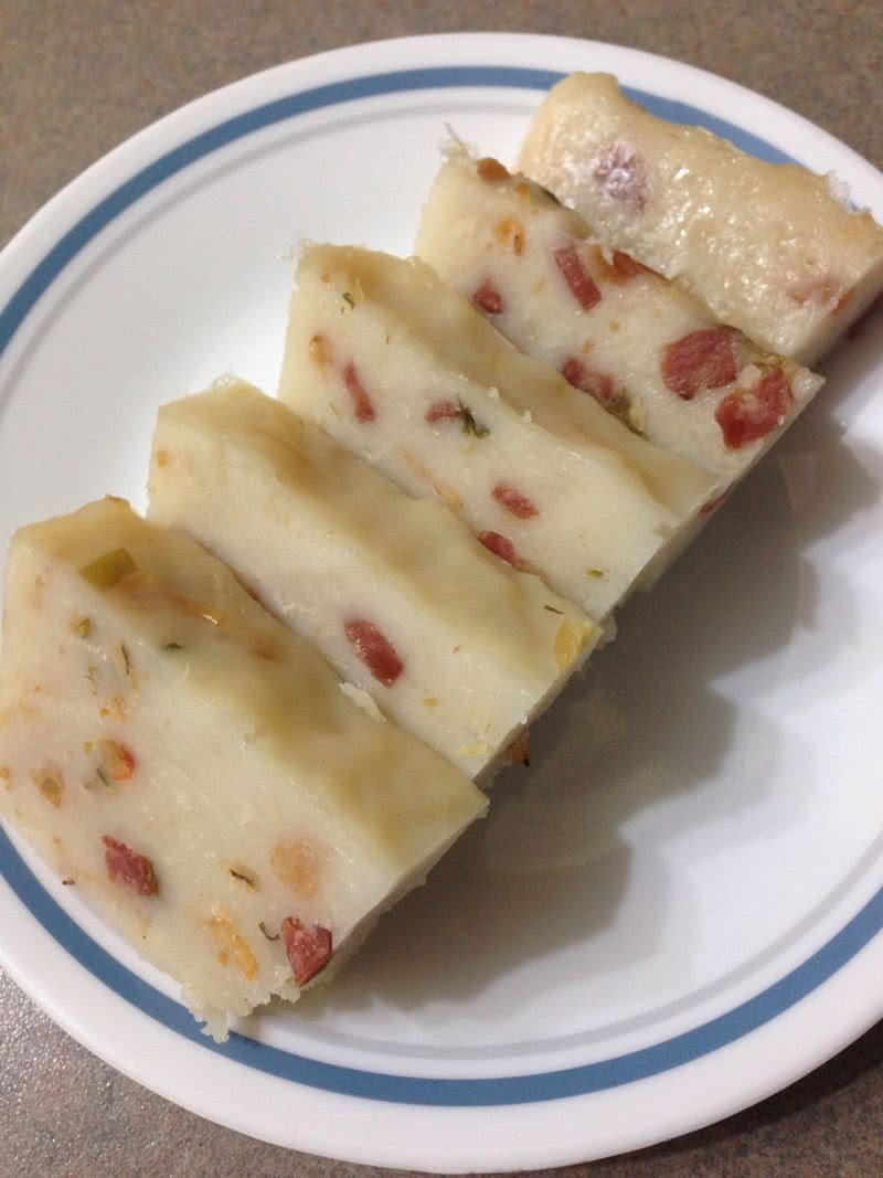 广式腊味萝卜糕的做法_【图解】广式腊味萝卜糕怎么做