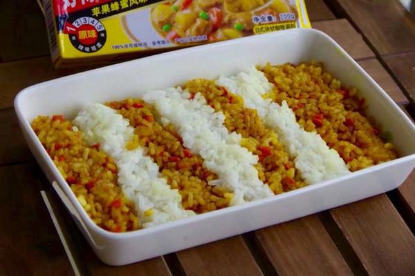 彩虹咖喱饭的做法
