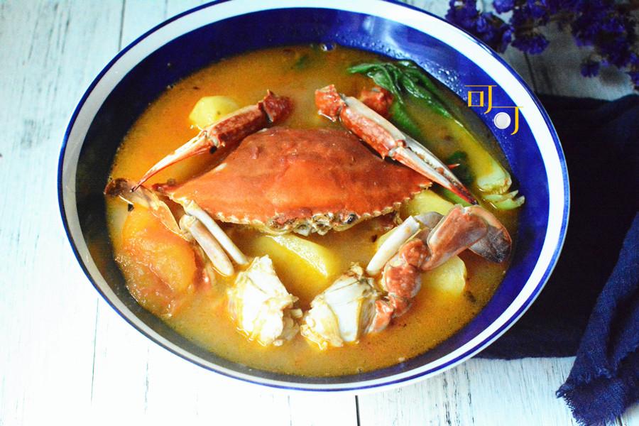 白蟹土豆煲:酸甜开胃蟹煲的做法图解12