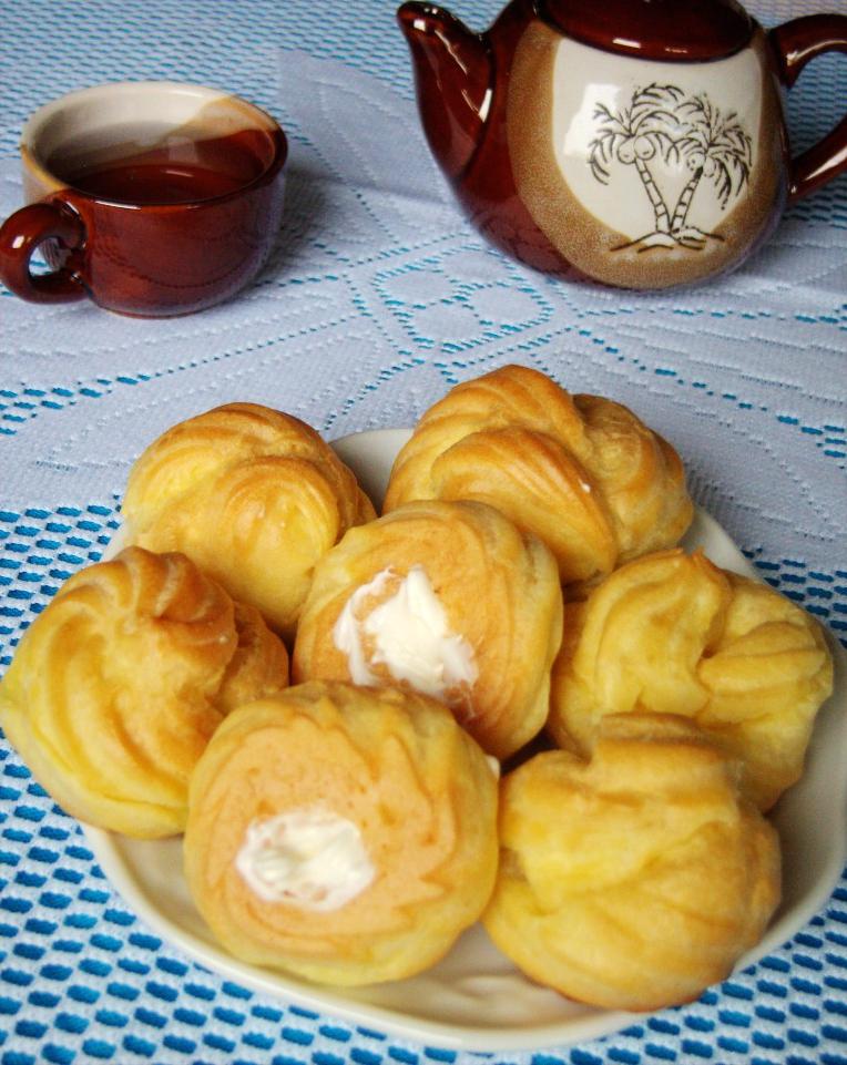 奶油泡芙的做法_【圖解】奶油泡芙怎麼做好吃_靜靜 ...