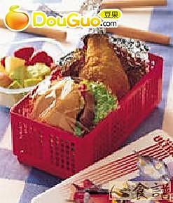 鸡腿野餐盒的做法