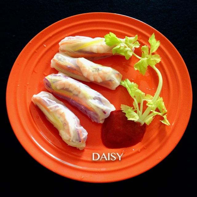 【减脂增肌】米纸春卷虾卷(越南五彩)食谱王v春卷图片